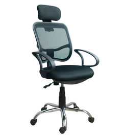 Tahan Lama Adjustable Home Office Computer Chair Dengan Headrest / Mesh Back