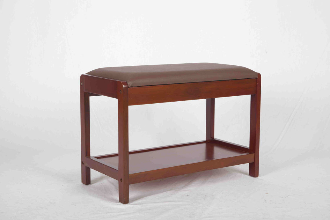 4 6kg soild modern wood furniture jok sepatu walnut bench dengan pvc leather