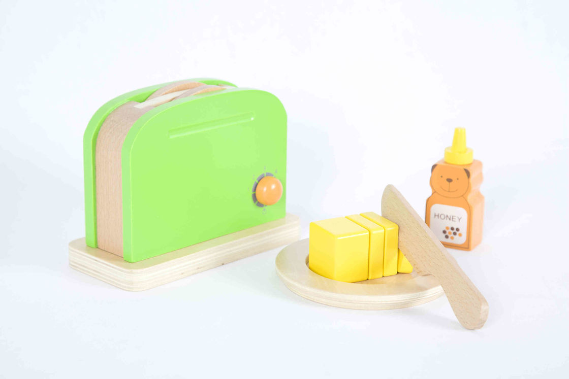 Toddler'S Wooden Toaster Toy , Soild Wood Childrens Play Kitchen Sets